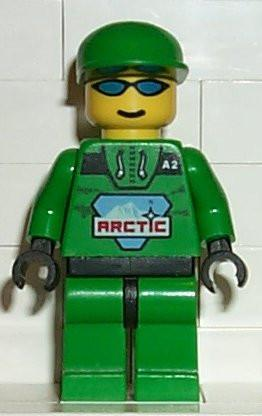 LEGO Minifigure-Artic - Green with Green Hat-Town / Arctic-ARC007-Creative Brick Builders