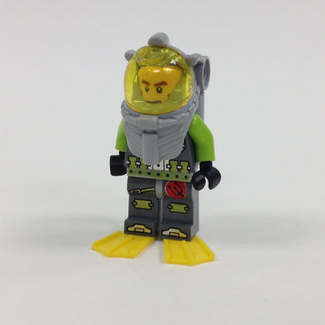 LEGO Minifigure-Atlantis Diver 1 - Axel - With Yellow Flippers and Trans-Yellow Visor-Atlantis-ATL016-Creative Brick Builders