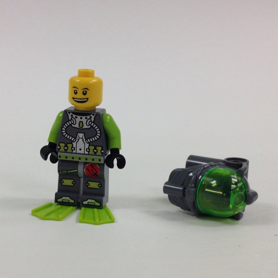 LEGO Minifigure-Atlantis Diver 2 - Bobby with Flippers-Atlantis-ATL002-Creative Brick Builders