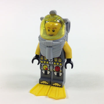 LEGO Minifigure-Atlantis Diver 4 - Lance Spears - With Yellow Flippers and Trans-Yellow Visor-Atlantis-ATL018-Creative Brick Builders
