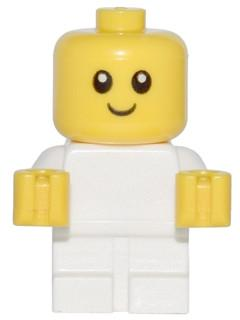 LEGO Minifigure-Baby - White Body with Yellow Hands-Town / City-CTY668-Creative Brick Builders