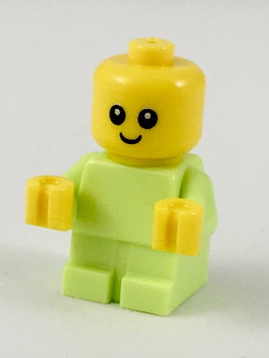 LEGO Minifigure-Baby - Yellowish Green Body with Yellow Hands-Town / City / Recreation-cty918-Creative Brick Builders