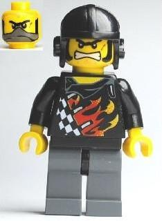 LEGO Minifigure-Backyard Blaster 1 (Bart Blaster) - Aviator Helmet-World Racers-WR025-Creative Brick Builders