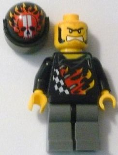 LEGO Minifigure-Backyard Blaster 1 (Bart Blaster) - Standard Helmet, Black Visor-World Racers-WR002-Creative Brick Builders