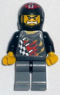 LEGO Minifigure-Backyard Blaster 1 (Bart Blaster) - Standard Helmet, No Visor-World Racers-WR009-Creative Brick Builders