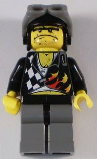 LEGO Minifigure-Backyard Blaster 2 (Bubba Blaster) - Aviator Helmet-World Racers-WR006-Creative Brick Builders