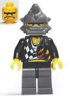 LEGO Minifigure-Backyard Blaster 2 (Bubba Blaster) - Spiked Helmet-World Racers-WR017-Creative Brick Builders