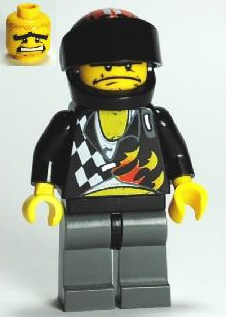 LEGO Minifigure-Backyard Blaster 2 (Bubba Blaster) - Standard Helmet-World Racers-WR010-Creative Brick Builders