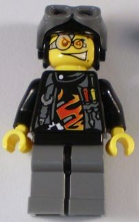 LEGO Minifigure-Backyard Blaster 3 (Billy Bob Blaster) - Aviator Helmet-World Racers-WR007-Creative Brick Builders