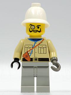 LEGO Minifigure-Baron Von Barron with Pith Helmet-Adventurers: Desert-ADV003-Creative Brick Builders