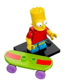 LEGO Minifigure-Bart Simpson with Slingshot in Back Pocket Pattern-Collectible Minifigures / The Simpsons-COLSIM-2-Creative Brick Builders