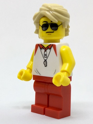 LEGO Minifigure-Beach Lifeguard-Town / City-cty769-Creative Brick Builders