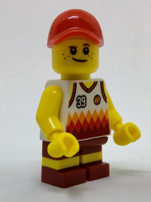 LEGO Minifigure-Beachgoer - Boy, Red Cap and Basketball Jersey-Town / City-cty770-Creative Brick Builders