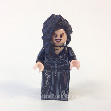 LEGO Minifigure-Bellatrix Lestrange, Black Dress, Long Black Hair-Harry Potter-HP092-Creative Brick Builders