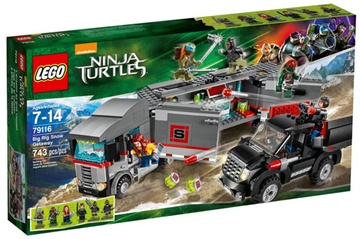 LEGO Set-Big Rig Snow Getaway-Teenage Mutant Ninja Turtles-79116-1-Creative Brick Builders