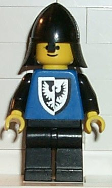 LEGO Minifigure-Black Falcon - Black Legs, Black Neck-Protector (old style torso with rounder bottom)-Castle / Black Falcons-CAS101-Creative Brick Builders