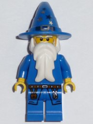 LEGO Minifigure-Blue Wizard-Castle / Kingdoms-CAS473-Creative Brick Builders