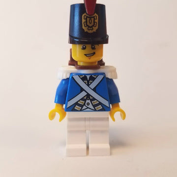 LEGO Minifigure-Bluecoat Soldier 3 - Lopsided Grin-Pirates / Pirates III-PI154-Creative Brick Builders
