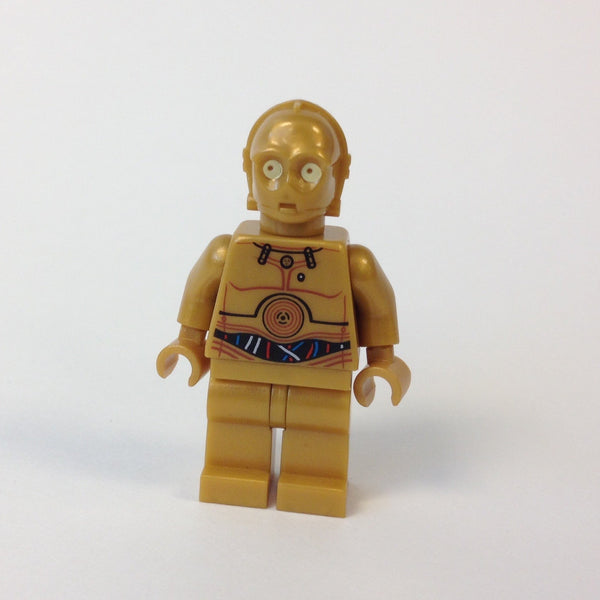 LEGO Minifigure -- C-3PO - Colorful Wires Pattern-Star Wars / Star Wars Episode 4/5/6 -- SW0365 -- Creative Brick Builders