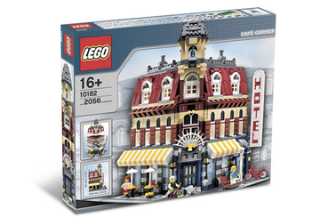 LEGO Set-Cafe Corner-Modular Buildings-10182-1-Creative Brick Builders