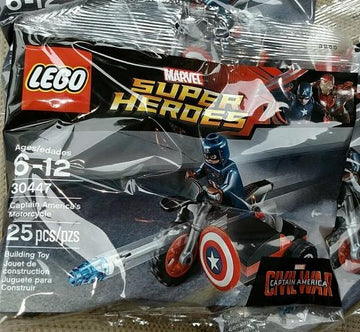 LEGO Set-Captain America's Motorcycle (Polybag)-Super Heroes / Captain America Civil War-30447-1-Creative Brick Builders