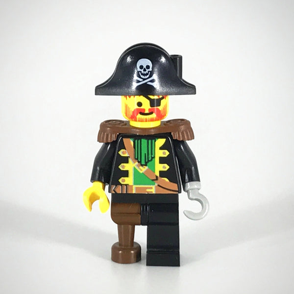 LEGO Minifigure-Captain Red Beard with Pirate Hat with Skull-Pirates / Pirates I-PI055-Creative Brick Builders
