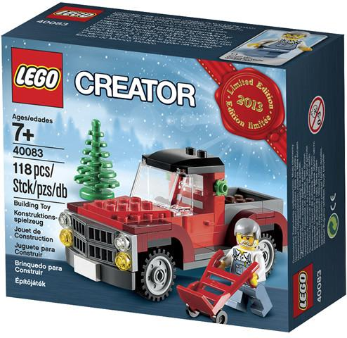 LEGO Set-Christmas Tree Truck - Limited Edition Holiday Set (2013)-Holiday / Christmas-40083-1-Creative Brick Builders