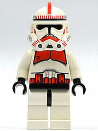LEGO Minifigure-Clone Trooper Ep.3, Red Markings, 'Shock Trooper'-Star Wars / Star Wars Episode 3-SW091-Creative Brick Builders