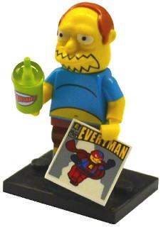 LEGO Minifigure-Comic Book Guy-Collectible Minifigures / The Simpsons Series 2-COLSIM2-7-Creative Brick Builders