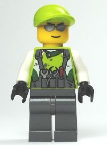 LEGO Minifigure-Crew Member 1-World Racers-WR012-Creative Brick Builders