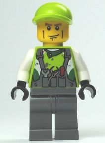 LEGO Minifigure-Crew Member 2-World Racers-WR013-Creative Brick Builders