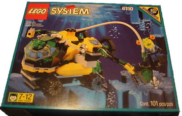 LEGO Set-Crystal Explorer Sub-Aquazone / Aquanauts-6175-1-Creative Brick Builders