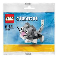 LEGO Set-Cute Kitten (Polybag)-Creator / Basic Model / Creature-30188-1-Creative Brick Builders