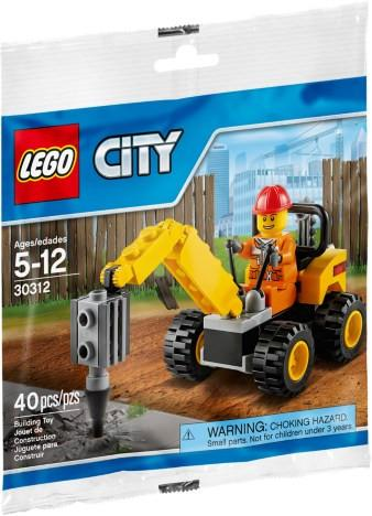 LEGO Set-Demolition Driller (Polybag)-Town / City / Construction-30312-1-Creative Brick Builders