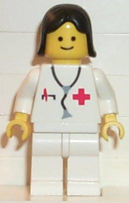 LEGO Minifigure-Doctor-Town / Classic Town / Hospital-DOC016-Creative Brick Builders