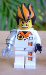 LEGO Minifigure-Dr. Inferno (Pearl Light Gray Claw)-Agents-AGT013-Creative Brick Builders