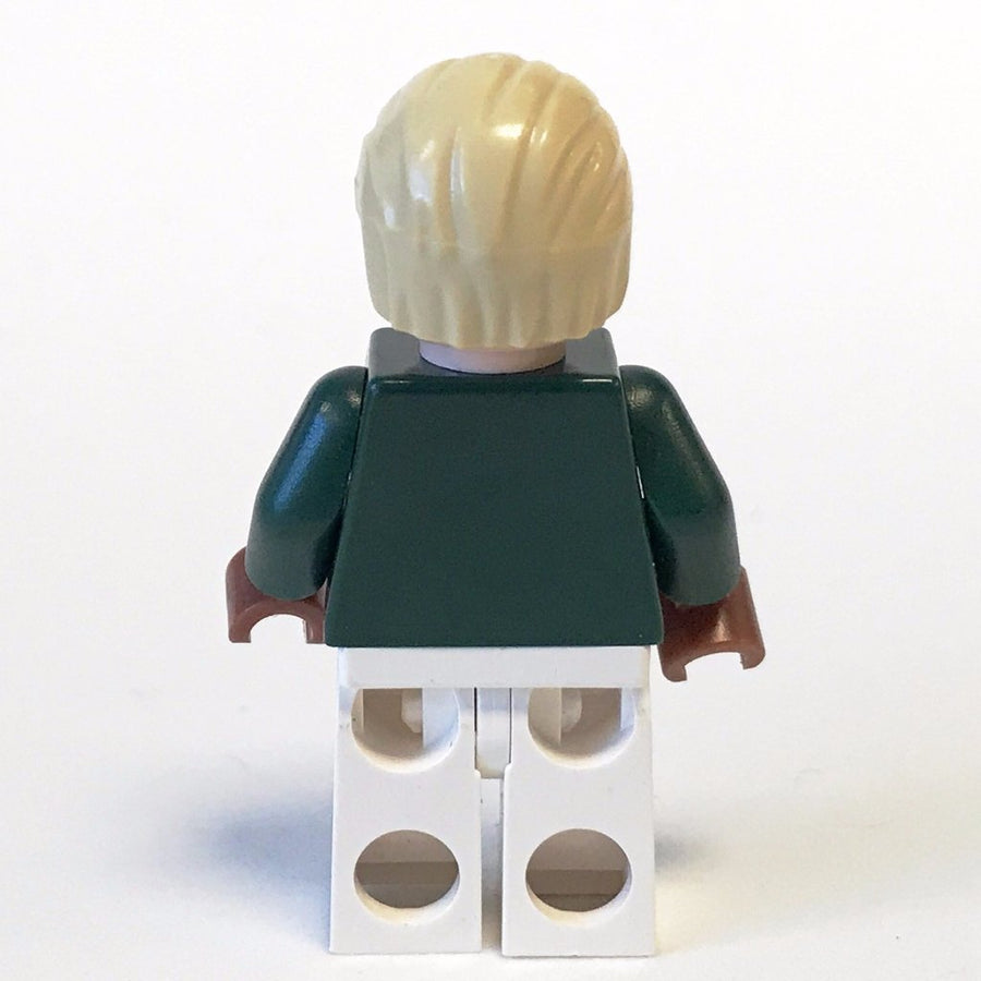 LEGO Minifigure-Draco Malfoy, Dark Green and White Quidditch Uniform-Harry Potter-HP108-Creative Brick Builders