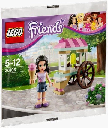 LEGO Set-Emma's Ice Cream Stand (Polybag)-Friends-30106-1-Creative Brick Builders