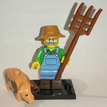 LEGO Minifigure-Farmer-Collectible Minifigures / Series 15-COL15-1-Creative Brick Builders