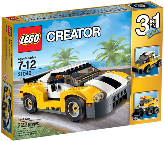 LEGO Set-Fast Car-Creator / Model / Traffic-31046-1-Creative Brick Builders