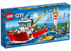 LEGO Set-Fire Boat-Town / City / Fire-60109-1-Creative Brick Builders