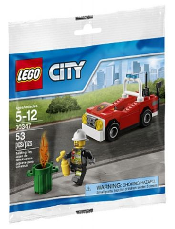 LEGO Set-Fire Car (Polybag)-Town / City / Fire-30347-1-Creative Brick Builders