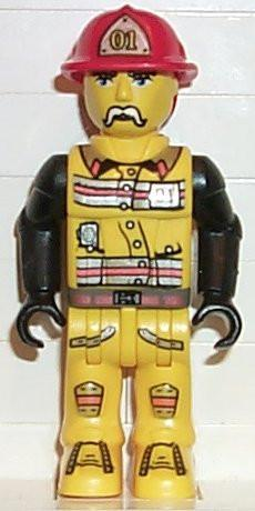 LEGO Minifigure-Fireman in Hat #01-4 Juniors / Jack Stone-JS001-Creative Brick Builders