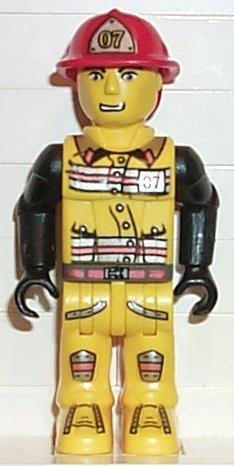 LEGO Minifigure-Fireman in Hat #07-4 Juniors / Jack Stone-JS007-Creative Brick Builders