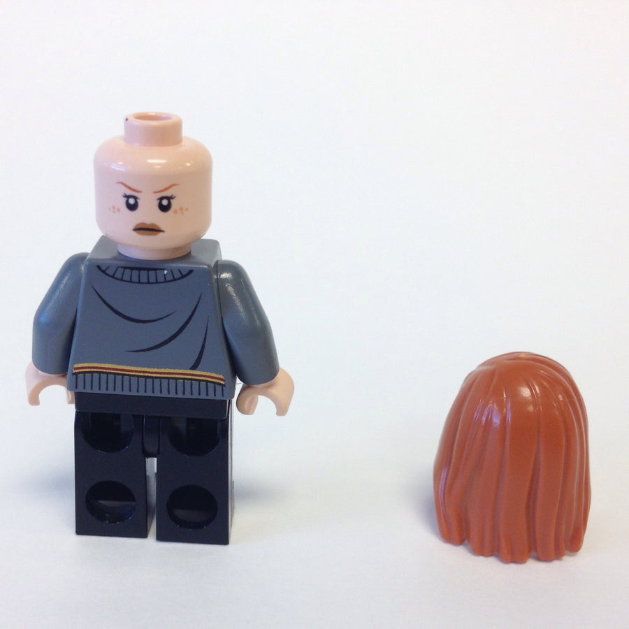 LEGO Minifigure-Ginny Weasley, Gryffindor Stripe and Shield Torso, Black Legs-Harry Potter-HP114-Creative Brick Builders
