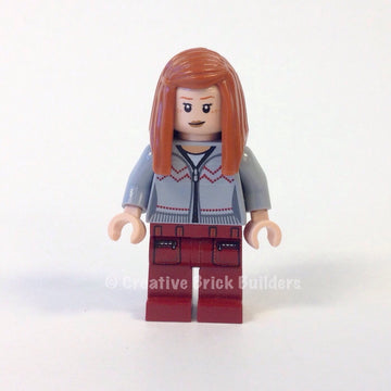 Ginny Weasley, Light Bluish Gray Knitwear, Dark Red Legs with Pocket Pattern