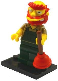 LEGO Minifigure-Groundskeeper Willie-Collectible Minifigures / The Simpsons Series 2-COLSIM2-13-Creative Brick Builders