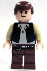 LEGO Minifigure-Han Solo (Black Vest, Light Flesh)-Star Wars / Star Wars Episode 4/5/6-SW179-Creative Brick Builders