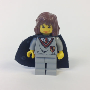 Hermione, Gryffindor Shield Torso, Light Gray Legs, Black Cape with Stars