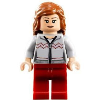 LEGO Minifigure-Hermione, Light Bluish Gray Sweater-Harry Potter-HP121-Creative Brick Builders